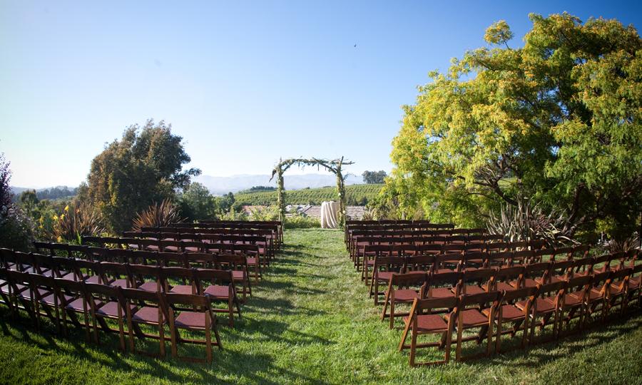 Image of backyard wedding